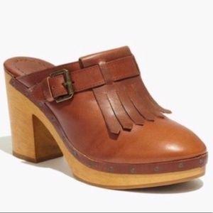 Madewell   Kiltie Clogs   Size 8   $60